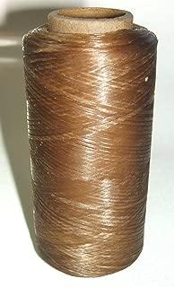 Light Brown Natural Artificial Sinew 30# Test 550 Ft 165 Yd Wax Thread Beadwork Loom Weave
