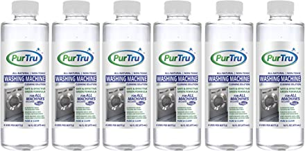 Washing Machine Cleaner (6 Pack) - All Natural and Safe Descaling & Cleaning Solution For Maytag, Whirlpool, Kenmore And All Top Load, Front Load, Portable, HE and Non-HE Washers