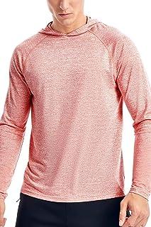 Zengjo Men's Lightweight Pullover Hoodie - Hooded Long Sleeve Workout Shirts