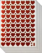 Jazzstick Valentine's Day Red Heart Stickers 10 Sheets (VST01A17)