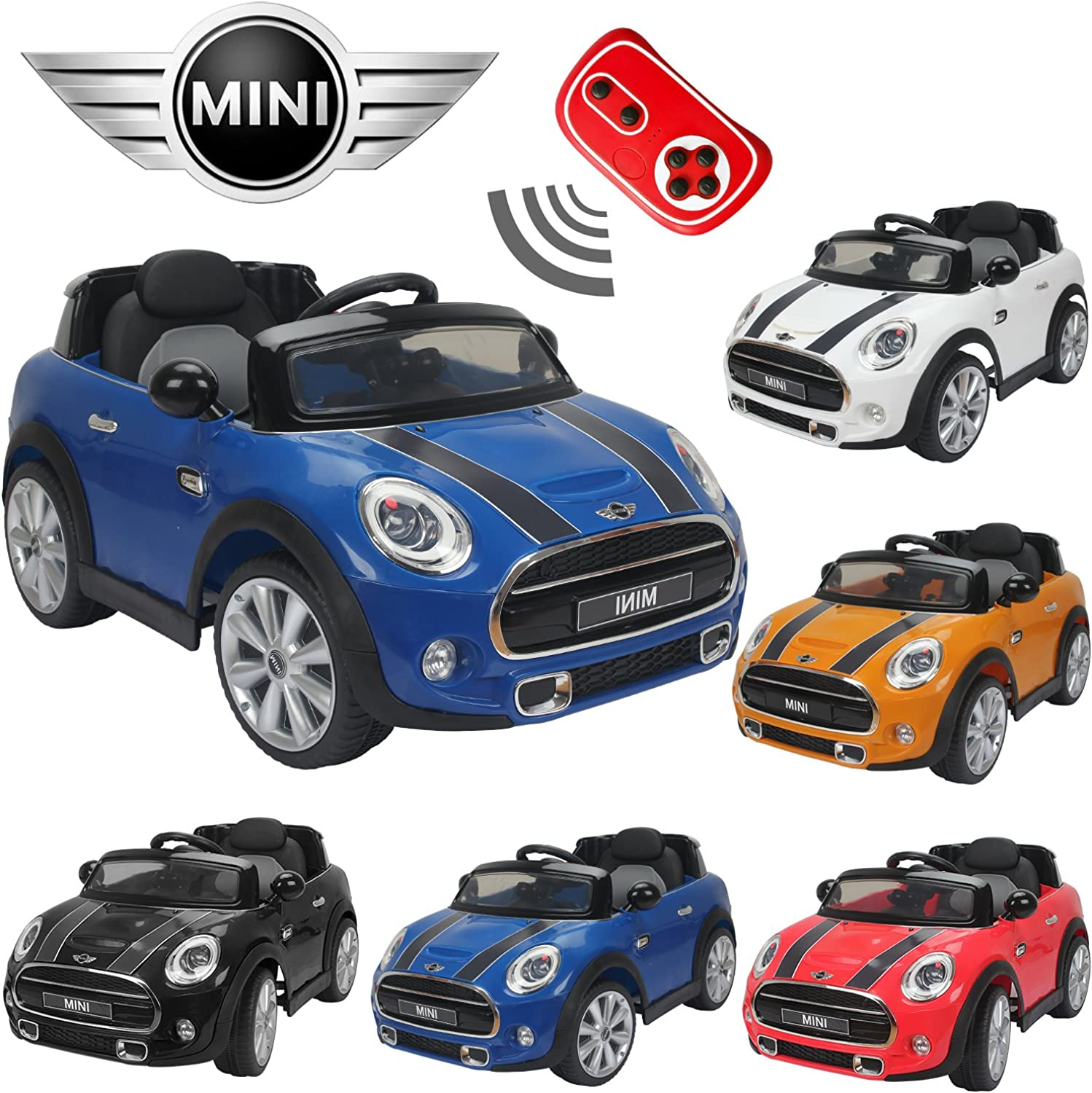 MINI COOPER Licensed 12V Kids Ride On Twin Motor Remote Control Car   Cars - bluee