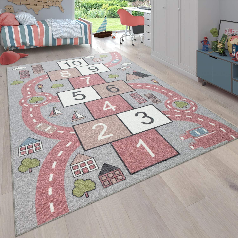 Tappeto da Gioco Dimensione:300x400 cm Rosa Gioco della Campana Design di Strade Paco Home Tappeto per la Camera dei Bambini