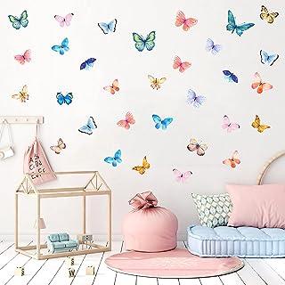 31 Pcs Stickers Muraux Papillons,Autocollants Muraux de Papillon pour Chambre D'enfant/Bébé,Autocollant de Fenêtre Papillo...