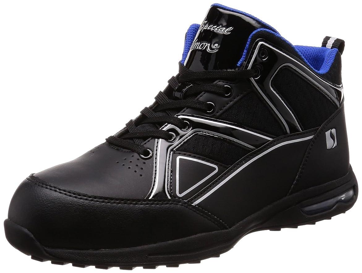 チェリー矢じりに沿って[シモン] プロスニーカー 短靴 JSAA規格 耐滑 軽快 静電 スニーカー 紐 反射 エアースペシャル4011黒静電