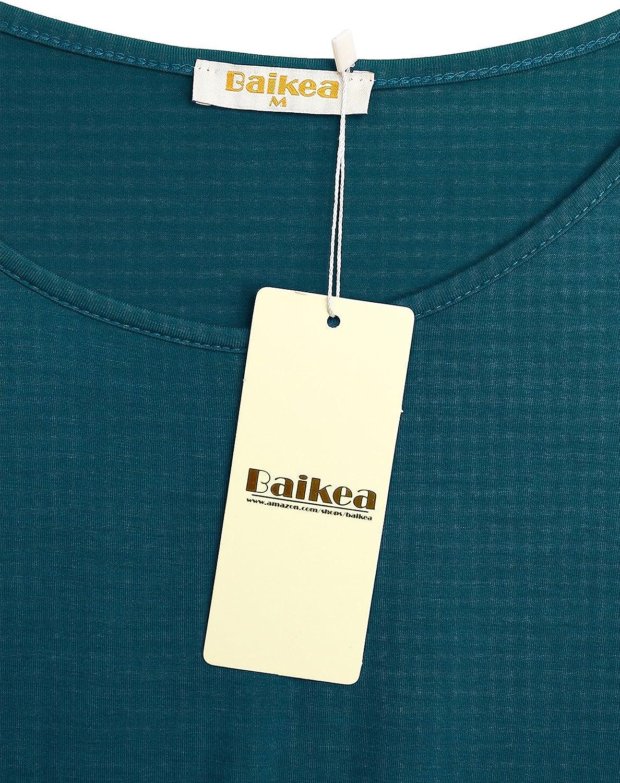 BAIKEA Womens Short Sleeve Maternity Layered Nursing Tops for Breastfeeding