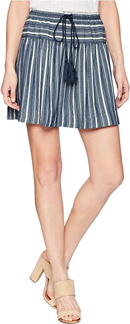 Foundry Indigo Stripe Skirt