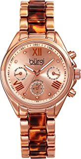 Burgi Casual Watch Analog Display Quartz For Women Bur130Rgbr, Pink Band