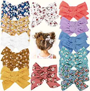24 PCS Baby Girls Hair Bows Clips 4.5 inch Hair Alligator Clips Barrettes Accessories for Infants Toddler Kids in Pairs