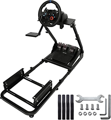 Marada Driving Racing Seat ,Racing Simulator Steering Wheel Stand Compatible for T500, FANTEC,