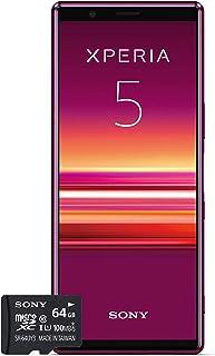Sony 128 GB Xperia 5 Smartphone, Inkluderar 64 GB minneskort, Röd