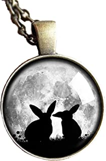 Collection Cute Bunnies Mother and Little - Pendant Necklace