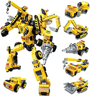 Paochocky Set de Bloques de Construcción 6 in 1 Stem Juguetes de Transformers Robots Regalo de Juguete de DIY Creativo Con...