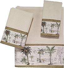 مجموعة مناشف من 3 قطع من Avanti Linens Colony Palm لون عاجي