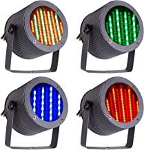 CO-Z 4pcs DMX Controlled LED Stage Lights, 86 RGB Sound Activated Par Stage Effect Lighting for Home Party Festival Bar Club Wedding Church Uplighting