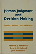 Human judgment and decision making: Theories, methods, and procedures