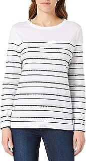 Tommy Hilfiger Regular Frill Boat-nk Top LS Camisa para Mujer