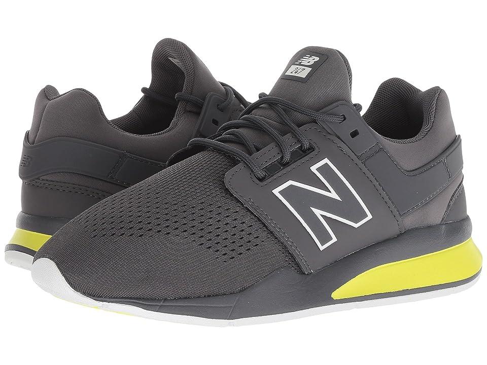 New Balance Kids KL247v2G (Big Kid) (Magnet/Solar Yellow) Boys Shoes