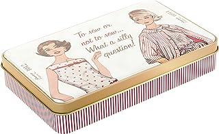 Simplicity Vintage Fashion 60's Tin Box Travel Sewing Kit