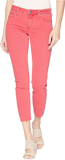 Lolita Crop Cut Hem Jeans in Pretty Pink