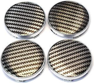 Wielnaafdoppen naafkappen wielen 4 stks 60mm Cool 3D Koolstofvezel Auto Stuur Tire Wiel Center Hub Cap Embleem Badge Decal...