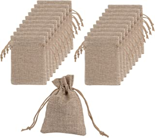 Mudder Burlap Bags with Drawstring Gift Bags for Wedding Party and DIY Craft, 4.5 x 3.5 Inch, Lot of 20