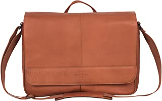 Kenneth Cole Reaction Risky Business Messenger Full-Grain Colombian Leather Crossbody Laptop Case & Tablet Day Bag