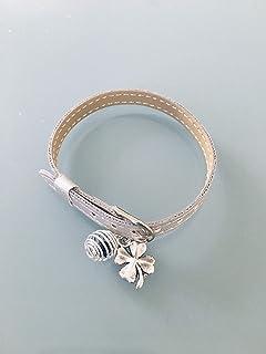 Bracciale da donna in pelle di imitazione con ciondolo e perla profumata, gioielli regalo, bracciale, idea regalo da donn...