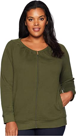 Plus Size French Terry Jacket