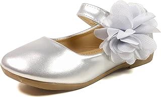 682240c1511c1d Nova Utopia Toddler Little Girls Flower Girl Dress Ballet Mary Jane Bow Flat  Shoes