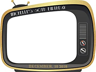 Old TV Set Photo Booth, 60th Birthday Party, Golden Birthday Party, Home Decor, Old School Television Photo booth, Birthday Photo Props, Handmade Party Supply Photo Booth Frame Sizes 36x24,48x36