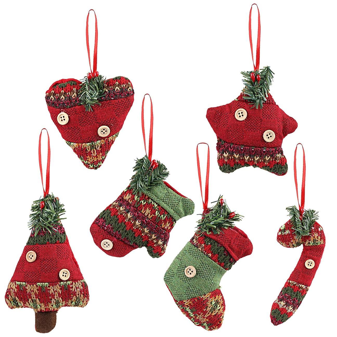 セットする豚肉幸運なKesote クリスマス飾り クリスマスツリー飾り 壁掛け 玄関掛け 装飾 ストラップ 置物 六つデザイン入り 10.5cmから14cmまで パーディー プレゼント