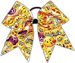 The Ultimate Bow Emoji Mayhem Cheer Bow Pony Tail