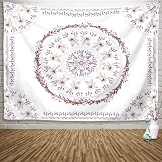 Sylfairy Mandala Tapestry Wall Hanging Bedding Tapestry Hippie Mandala Tapestry Beach Coverlet Throw Tapestry Table Cover Curtain Home Decoration Wall Art Bedroom Dorm Decor(59