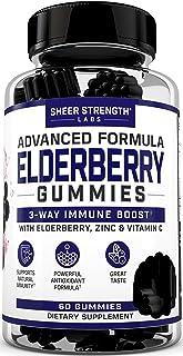 Sponsored Ad - Sheer Sambucus Elderberry Gummies with Vitamin C & Zinc for 3-Way Support - Natural Daily Black Elderberry ...