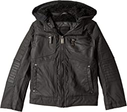 Urban Republic Kids - Hooded Sherpa Moto Jacket (Little Kids/Big Kids)