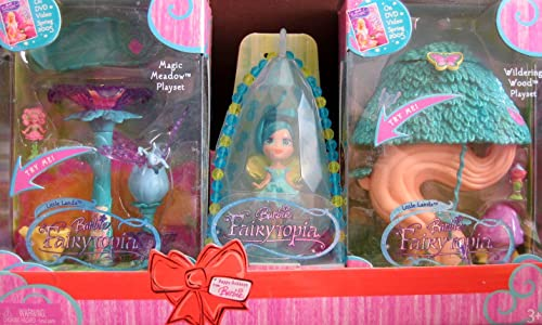 Barbie Fairytopia Peu Lands Magic Meadow Playset & Wildebague bois Playset &  Jewel  collier Gift Pack (2005)