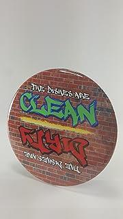 Pocono Mountain Treasures, Graffiti Style Brick Wall Clean / Dirty Dishwasher Magnet, Waterproof / Strong / Durable, Flip ...