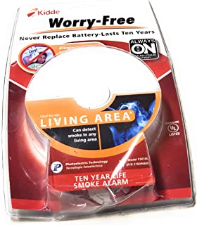 Kidde GIDDS-2475141 Worry-Free Ionization Wire-in Smoke Alarm with 10 Year Sealed Lithium Battery Backup-2475141