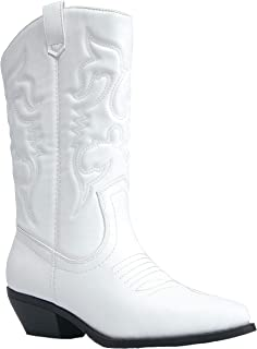 Lasso Knee High - Western Cowboy Embroidered Pointed Toe Pull On Boot