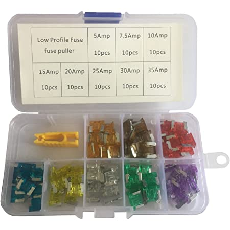 Kolacen Car Truck Low Profile Mini Blade Type Fuse Assorted Kit 5 7 5 10 15 20 25 30 35amp Fuse Puller 81 Pieces Business Industry Science
