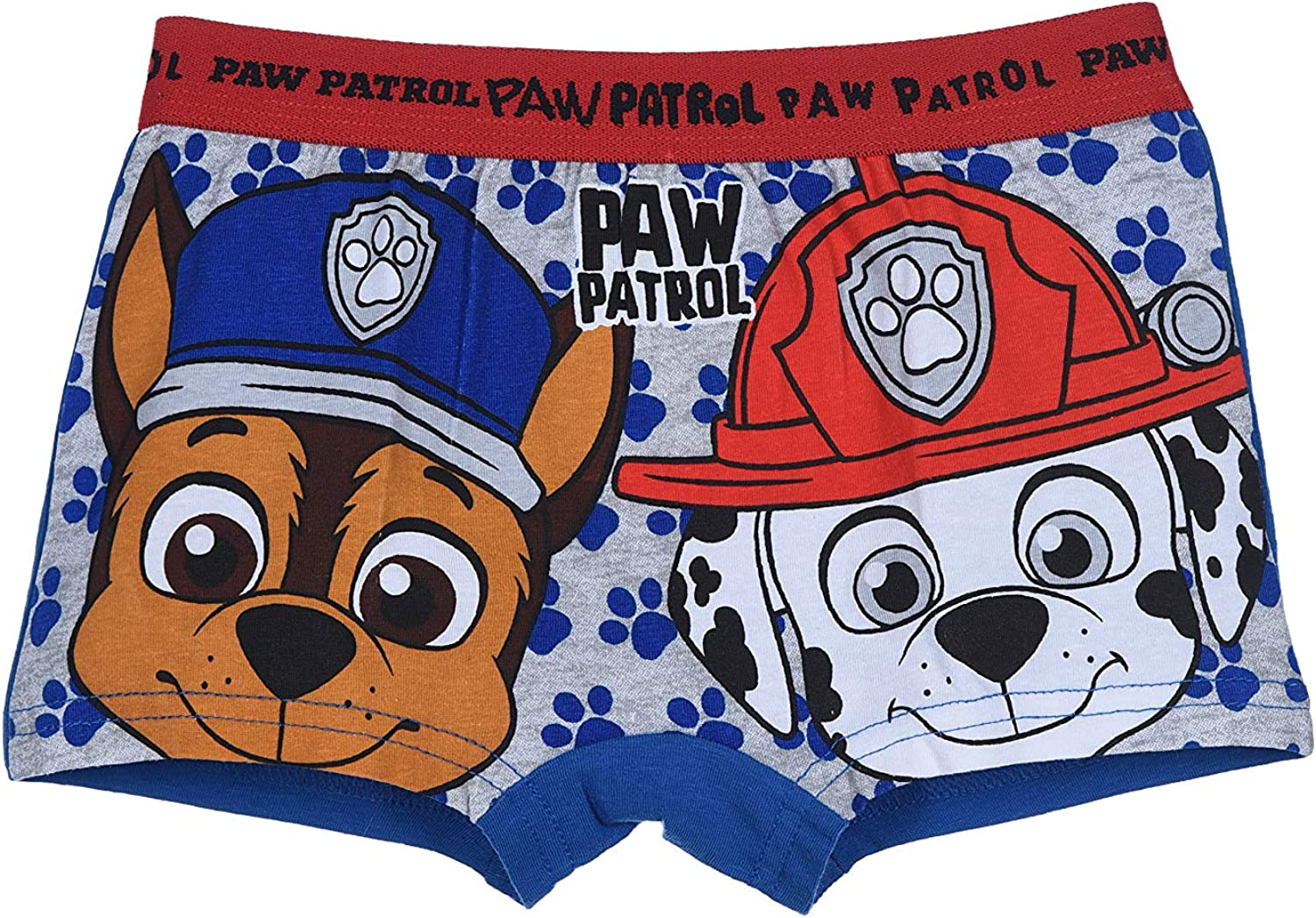 Paw Patrol Boys Pack of 4 Boxer Shorts Underwear with Different Motifs