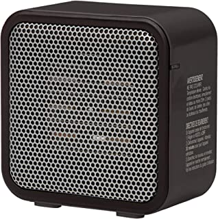 AmazonBasics 500-Watt Ceramic Small Space Personal Mini Heater – Black
