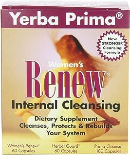 Yerba Prima Women's Renew Internal Cleansing, 60 capsules each of Renew, herbal Guard and 180 Capsules of Prima Cleanse
