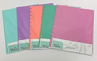 Talia Discbound Covers 5pk, Pastel Set (Summer Blue, Lavender, Salmon, Sage Green, Spring Pink), Letter Size