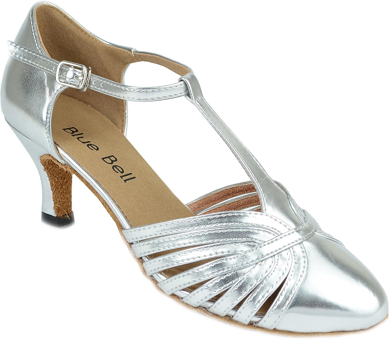 BlueBell Shoes Handmade Women's Ballroom Wedding Competition Dance Shoes Darla 2.5
