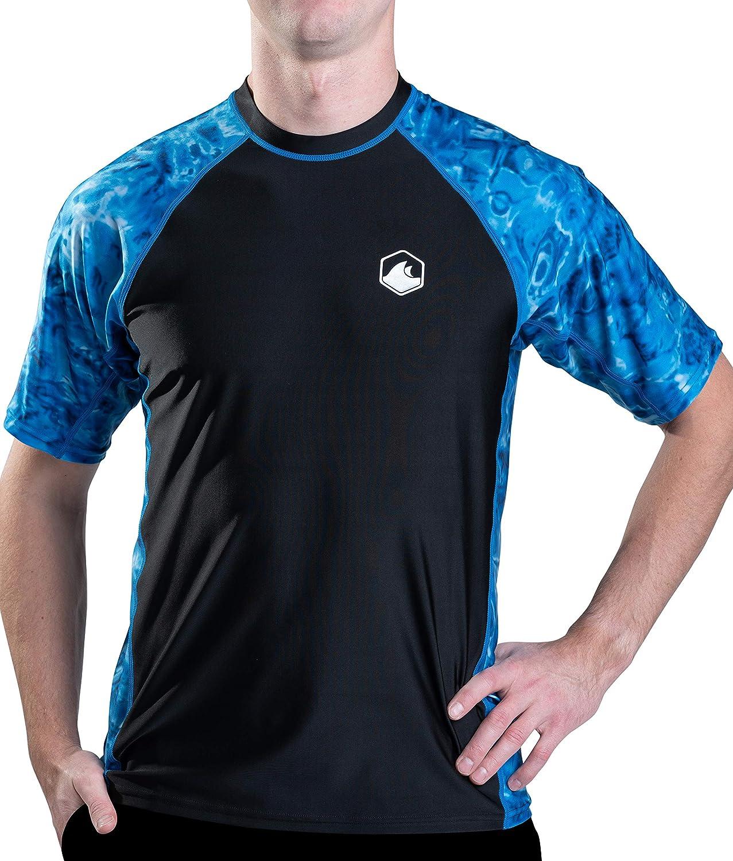 Aqua Detroit Mall Design Mens Max 41% OFF Short Sleeve Rash Surf Swim Guard Shirt: Rashgu