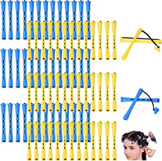 80pcs Perm Rods Set Perm Rod for Natural Hair Long Cold Wave Rods Small Hair Roller Kinky Curly Hairstyle Curling Perming ...