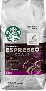 Starbucks Espresso Roast Dark Roast Whole Bean Coffee, 12-Ounce Bag (Pack of 6)