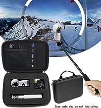 Protective Case for Samsung Gear 360 VR Camera, Gear 360 SM-R210 (2017 Edition) Spherical Cam 360 degree 4K Camera, Universal Foam Blocks design, Spike foam in the lid (Ballistic Black Large)