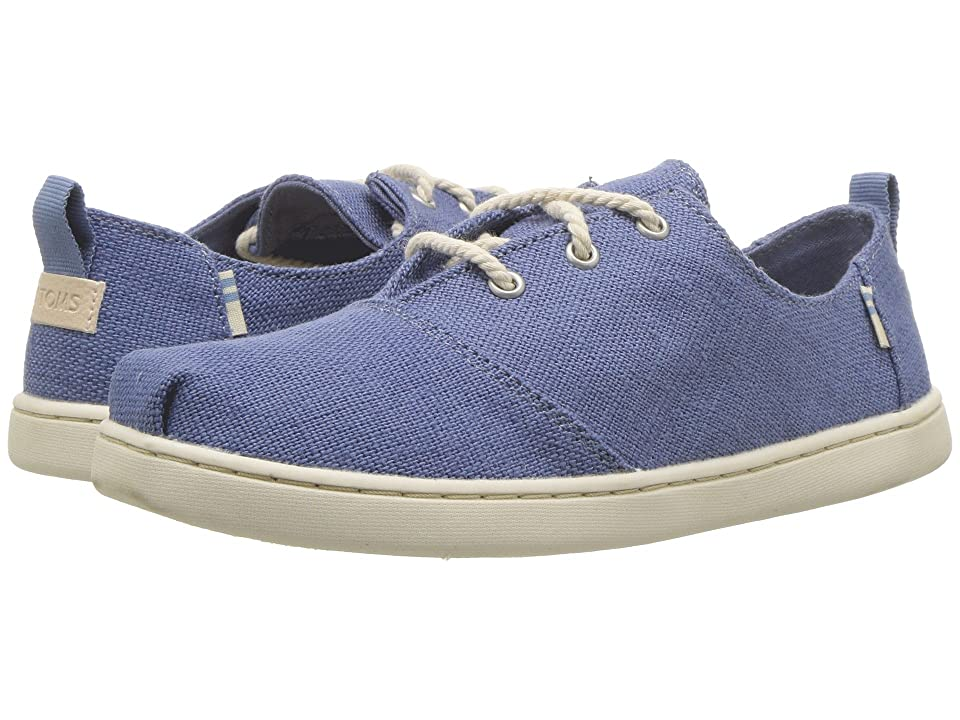 TOMS Kids Lumin (Little Kid/Big Kid) (Infinity Blue Heritage Canvas) Girl